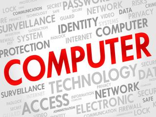 COMPUTER word cloud, business concept