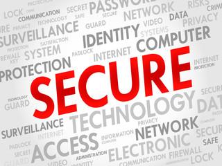 SECURE word cloud, business concept