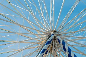 Part of a large modern big wheel