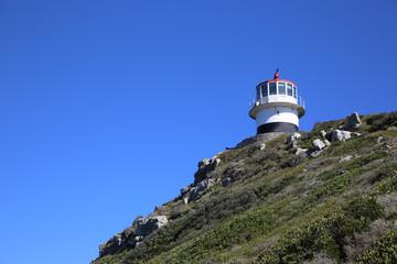 Historischer Leuchtturm am Cape Point. Südafrika