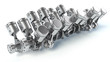 W16 engine pistons. 3D