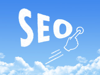 SEO message cloud shape