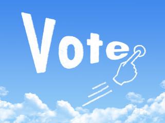 Vote message cloud shape