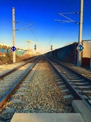 Railroad Crossing in Vienna