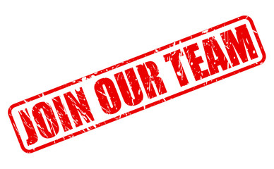 Join our team red stamp text