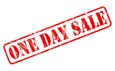 One day sale red stamp text