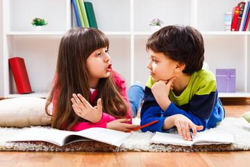 Children talking