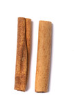 Two aromatic cinnamon sticks. poster
