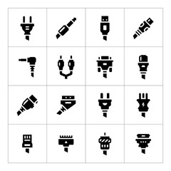 Set icons of plugs and connectors