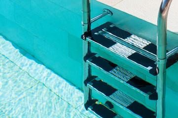 Swimmimg Pool Ladder Closeup