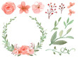 Set of flowers and leaves vector - 79392173
