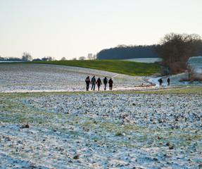 Wandelen in Limburgs winterlandschap