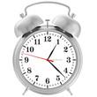 metal chrome alarm clock