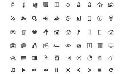 Home Automation ,Smart Home, Icon set, Vector