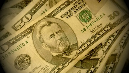 American currency fifty dollar bills - Finance and banking