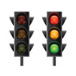 Traffic lights isolated on white vector - 79396350