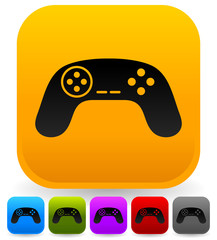 Illustration of game controllers, remotes. Pc, console gaming