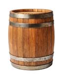 Wooden oak barrel isolated on white background - 79397120