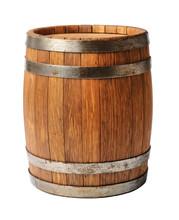 "Постер, картина, фотообои ""Wooden oak barrel isolated on white background"""