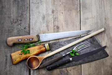 Küchenutensilien Kräuter