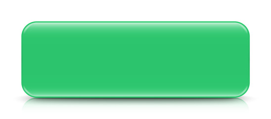 long sea green button template with reflection