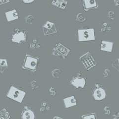 Vector Seamless Pattern of Finance