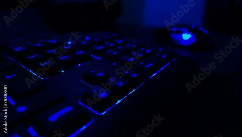 Gaming Tastatur Blau - 79398381