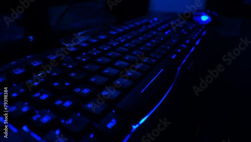 Gaming Tastatur Blau 2 - 79398384
