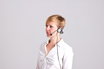 Controlwoman with Headset