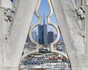 Milano, grattacieli visti dal Duomo