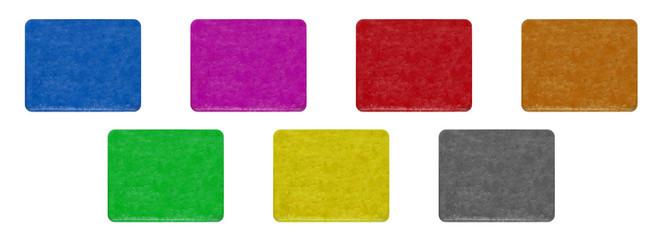 Alte Schilder - verschiedene Farben - abgerundet - Freisteller