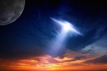 Ufo in sky