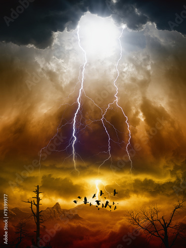 Fotobehang Onweer Judgment day