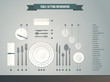 Table setting infographic - 79400550
