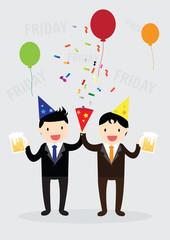 Businessman party Concept