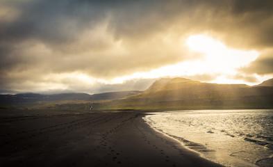 Strand in Island, Westfjorde