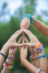 peace sign or symbol made with hands