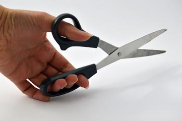 hands with scissors