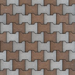 Gray and Brown Polygons as Oblique Lines.