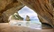 Leinwandbild Motiv Beach at Cathedral Cove, Coromandel Peninsula - New Zealand
