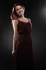 Fashion model Elegant woman smiling portrait