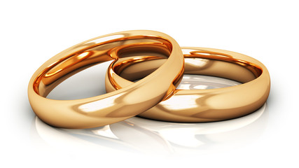 Golden wedding rings