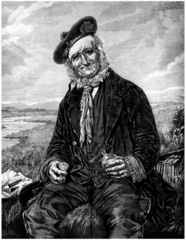 Elderly Peasant : drinking - 19th century