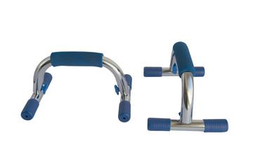 gymnastic bars for push-ups isolated on white background