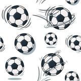 Soccer ball texture. Football set pattern.