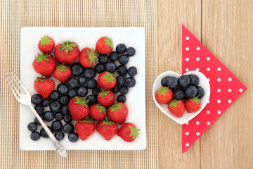 Strawberry and Blueberry Fruit