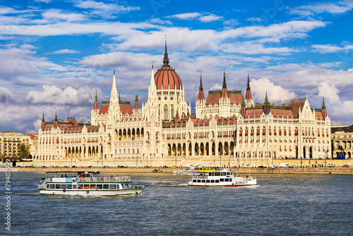 Foto op Canvas Oost Europa Parliament building in Budapest, Hungary