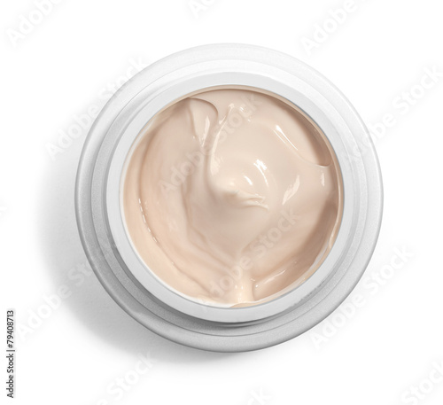 Leinwandbild Motiv jar of cream