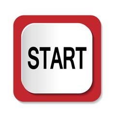 Векторный значок с надписью START