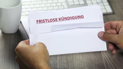 Notice of termination, fristlose Kuendigung (german)